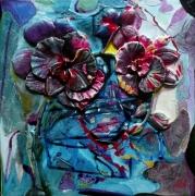 tableau fleurs matiere mouvement poetique : Attentation