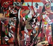 tableau abstrait matiere mouvement poetique : Sonate d'automne