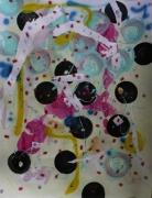 tableau abstrait mouvement poetique : Branle-bas de boulets