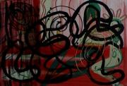 tableau abstrait mouvement lignes poetique : Rideau!