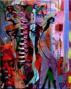 tableau abstrait matiere mouvement poetique : Gentilles alouettes
