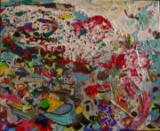 tableau abstrait : Le frisson blanc