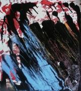 tableau abstrait matiere mouvement poetique : De la fluidité des roches