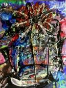 tableau abstrait matiere mouvement poetique : Mendiant de paradis