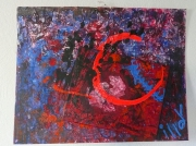 tableau abstrait relief matiere poetique : Eclipse