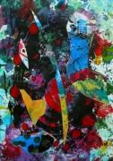 tableau abstrait matiere mouvement poetique : Ombilic 1