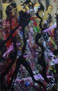tableau abstrait energie matiere mouvement poetique : Salsa night