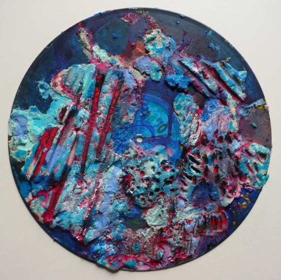 TABLEAU PEINTURE Matière Mouvement Poétique Abstrait Acrylique  - Les monts bleus