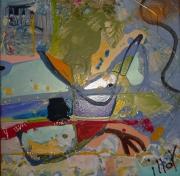 tableau abstrait design poetique : Nonet 9
