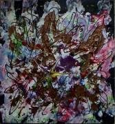 tableau abstrait explosion couleurs reliefs poetique : Splash