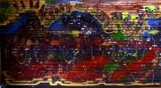 tableau abstrait matiere mouvement poetique : La nuit je dore