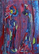 tableau abstrait matiere poetique : Les évanescents