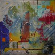 tableau abstrait design poetique : Nonet 1