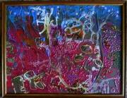 tableau abstrait matiere mouvement poetique : Sang d'eau
