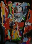 tableau abstrait matiere mouvement poetique : Fenêtre sur bois