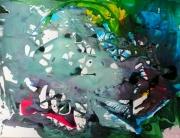 tableau abstrait mouvement poetique : Blue touch
