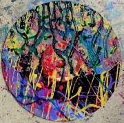 tableau abstrait deco mouvement poetique : Calice de varech