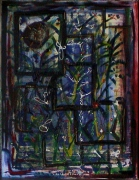 tableau abstrait vegetal reliefs fenetres poetique : Ma serre