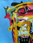 tableau abstrait matiere mouvement poetique : Clef de voûte