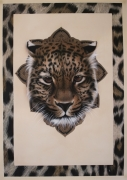 tableau animaux leopard felin aerographie animal : Léopard