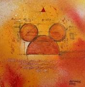 tableau abstrait kerinos abstrait street art orange : street beta 2