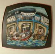 tableau personnages debarque guilvinec : Debarque au guilvinec