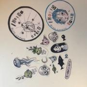 artisanat dart personnages aquarelle illustration stickers : Pack de stickers