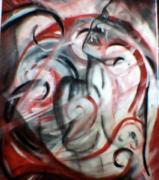 """tableau personnages antigone nue abstrait : """"antigone"""""""