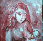 tableau personnages allaitement maternite portrait : petite mère