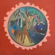 tableau paysages planetes paysage fruits arbre : PLANETES PERDUES 1