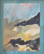 tableau paysages paysage ciel peinture expressionnisme : MORCEAU DE CIEL I