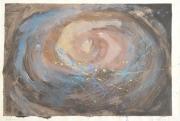 tableau abstrait ciel galaxie abstrait primitif : GALAXIE II