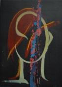 tableau personnages femme univers tÊte expressionnisme : FEMME UNIVERS