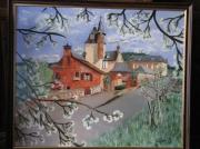 tableau paysages collonges la rouge maisons printemps : collonges la rouge