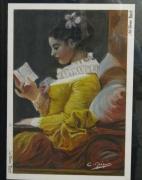 tableau personnages fragonard portrait : la liseuse