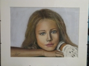 tableau personnages portrait visage fille enfant : kristina pimenova