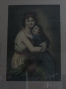 tableau personnages portrait romantique femme enfant : la femme et l'enfant