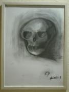 dessin autres crane skull tete de mort gothique : Crâne intense