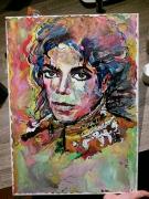tableau personnages michael jackson portrait king of pop : Michael Jackson