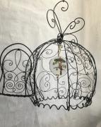 deco design arabesques metal oriental oiseau : Cage boule