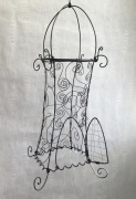 deco design cage oiseau arabesque moyen orient : Cage byzantine