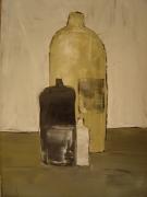 tableau nature morte bouteilles vases cuisine : ma cuisine