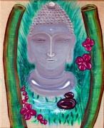 tableau autres bouddha zen bambou pierre : ZEN-Bouddha