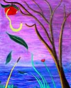 tableau autres pomme eve eden trompe oeil : Pomme d'Eden