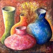 tableau nature morte pot cruche vase naturemorte : Vases et Cruches
