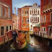 tableau paysages venise italie gondole galerie mt : Ballade à Venise