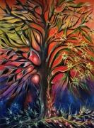 tableau abstrait arbre nature metamorphose saison : Métamorphose