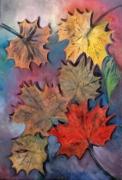 tableau nature morte automne feuilles saison naturemorte : Feuilles mortes
