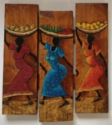 marquetry personnages afrique femmes africaine galerie mt : Les Africaines