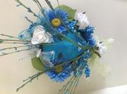 artisanat dart personnages masque bleu masque decoratif masque fleurs masque papillons : masque nature bleu